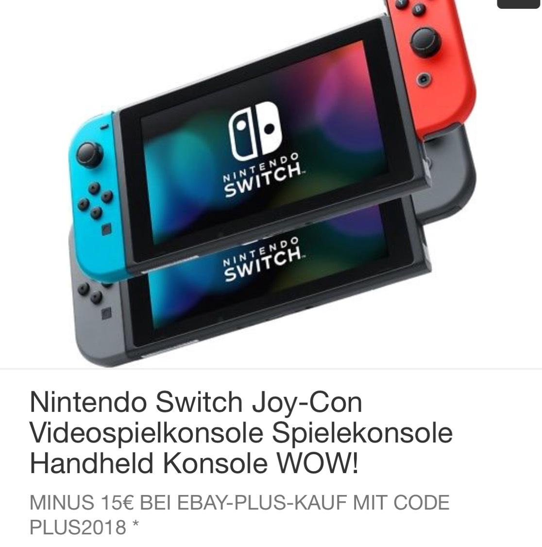 eBay+ Nintendo Switch / beide Farben