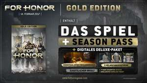 [UPLAY] For Honor Gold (Spiel + Season Pass + Extras) 100 Uplay Punkte notwendig!