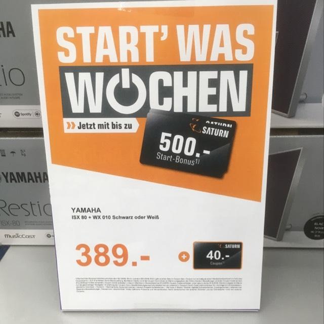 Yamaha ISX-80 + WX-10 für 389€!! + 40€ Gutschein [ Saturn Essen Limbecker Platz]