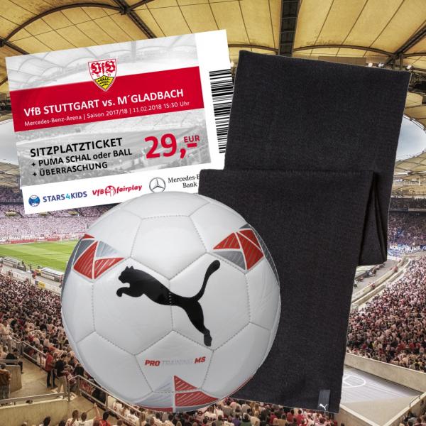 Sitzplatzticket VfB Stuttgart – Borussia Mönchengladbach + PUMA Fußball + Überraschung