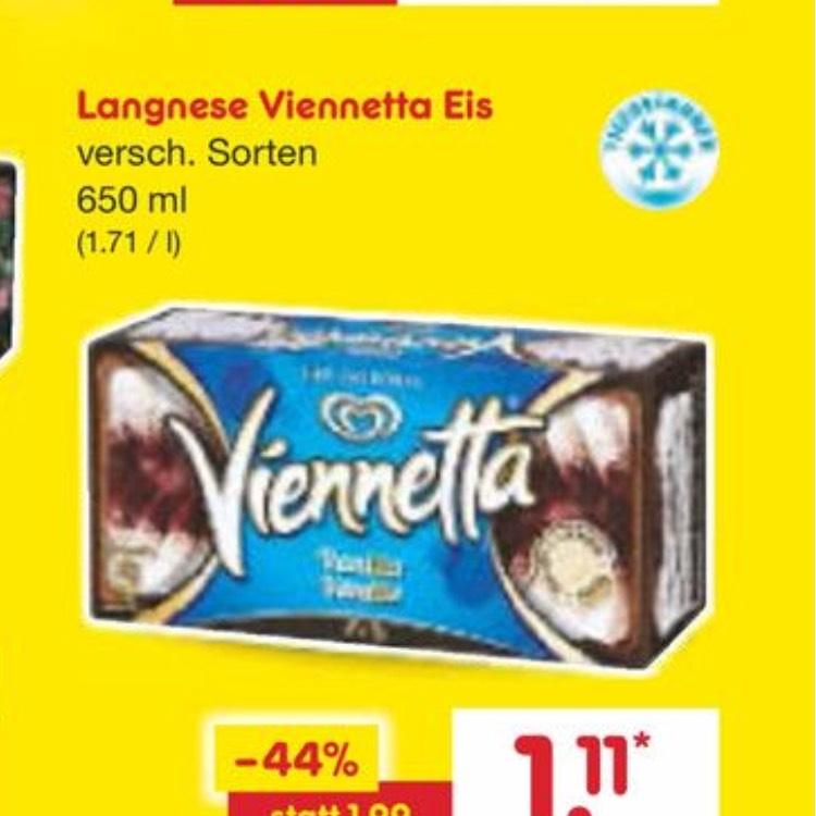 Langnese Viennetta Eis , verschiedene Sorten , Netto
