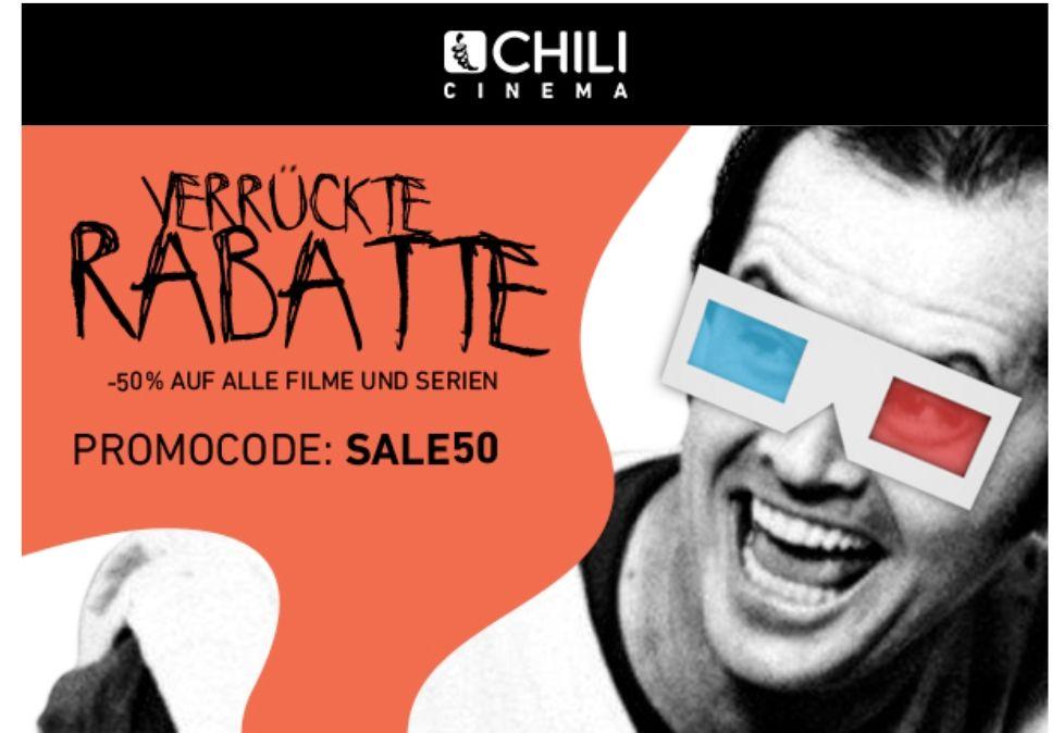 50% auf Filme und Serien bei CHILI