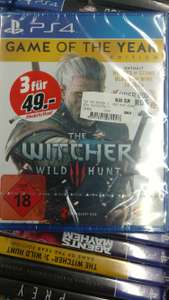 (Lokal Media Markt Bielefeld) The Witcher 3 - Game of the Year Edition PS4