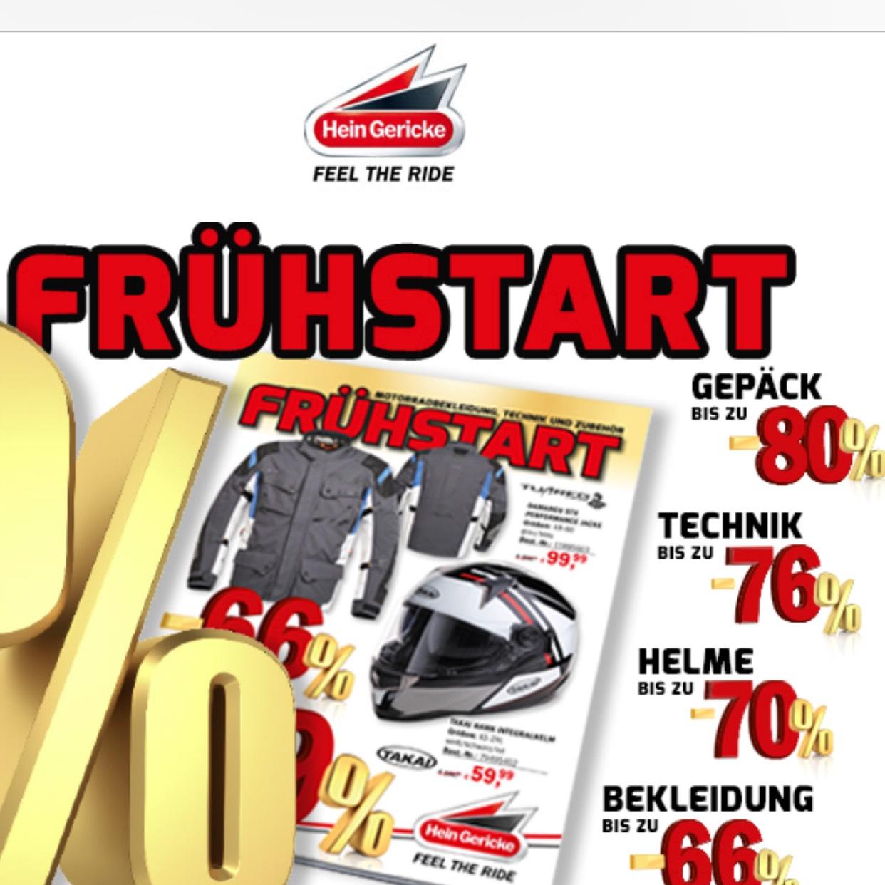 Bis zu 80% Rabatt bei Hein Gericke!! Safety First!