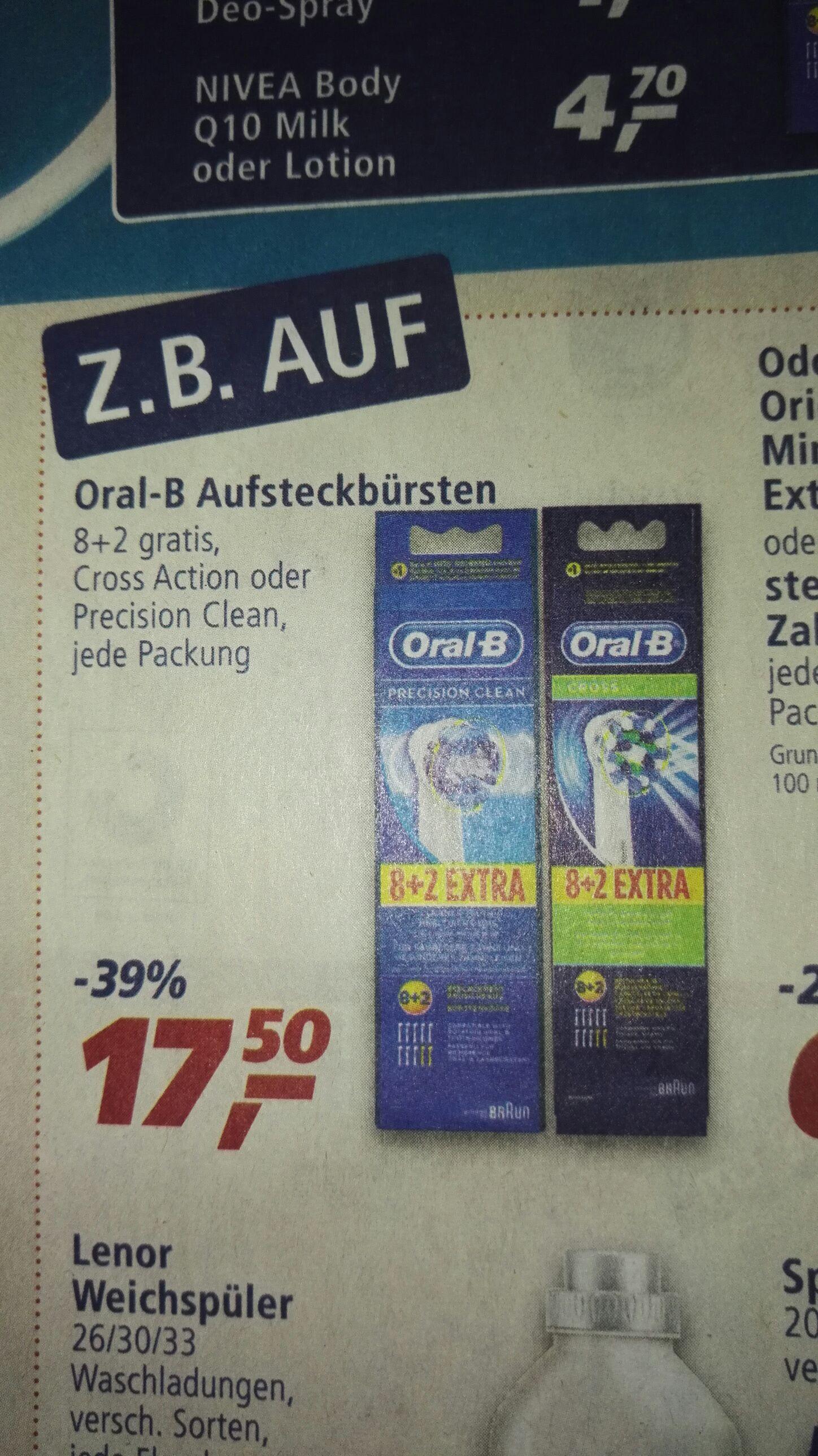Real: Oral-B Aufsteckbürsten