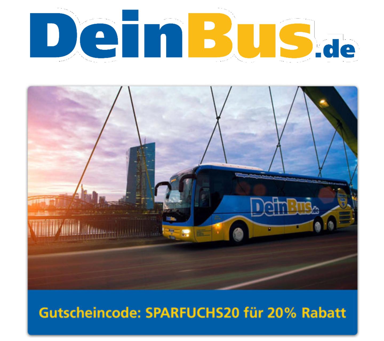 DeinBus.de 20% Rabatt