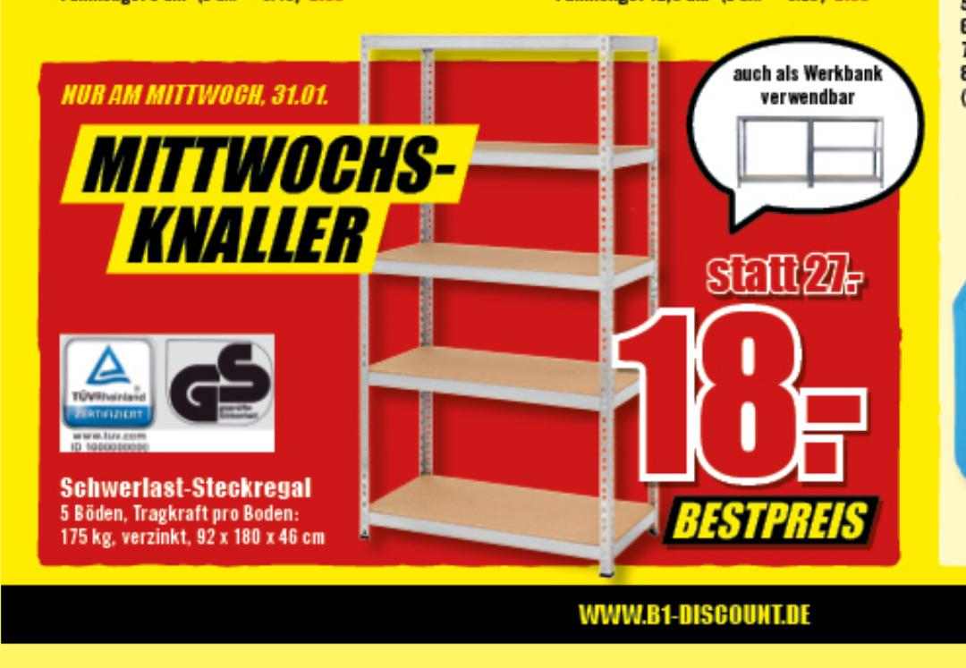 [B1] Schwerlast-Steckregal für 18€ (nur Mittwoch, den 31.01.18)