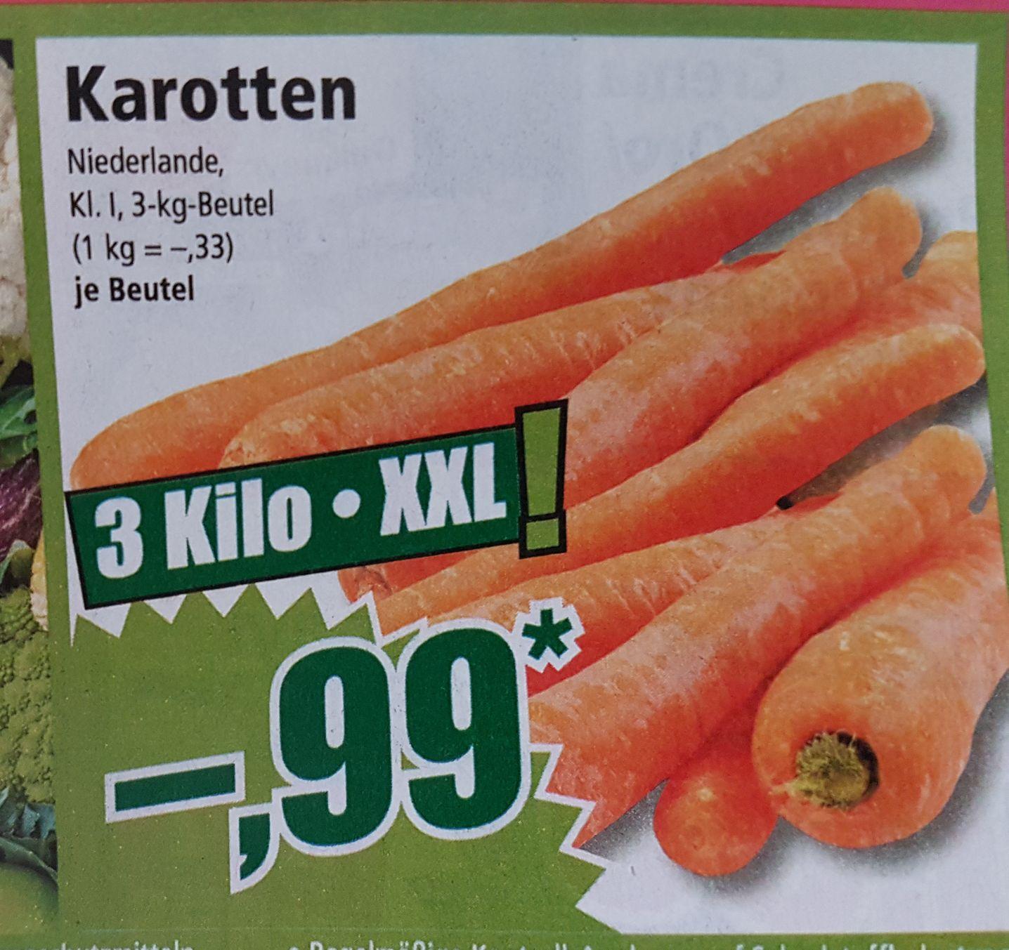 [NORMA bundesweit] 3 Kilo Karotten für 0.99€
