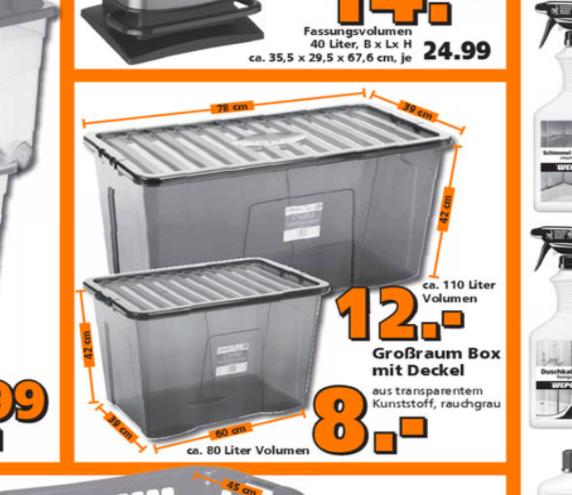 Aufbewahrungsbox 110l Mit Deckel F R 12 Oder 80l Mit