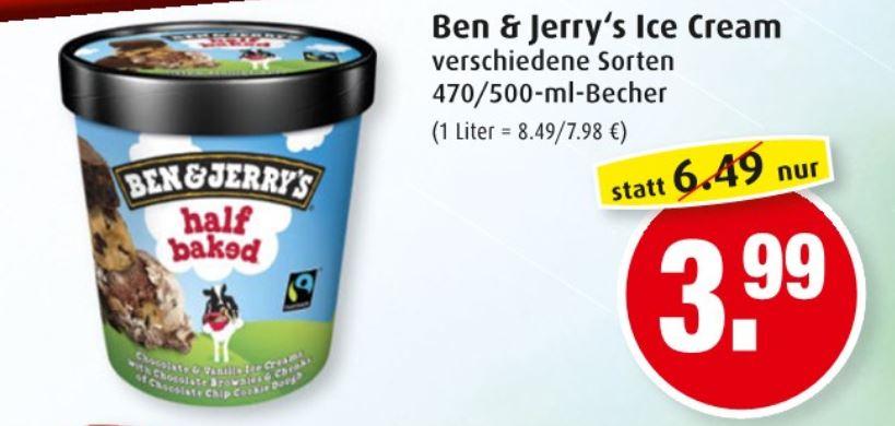 Lokal Hamburg Markant - Verschiedene Sorten Ben & Jerry's Eiscreme