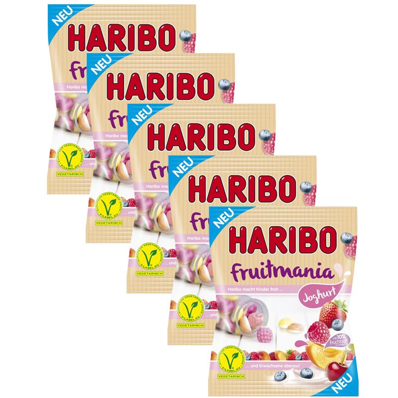 [Haribo Paydirekt] 10 Tüten (1750g) Haribo Milchbären Tropical o. Fruitmania Joghurt (MHD 30.04.2018) inkl. Versand!