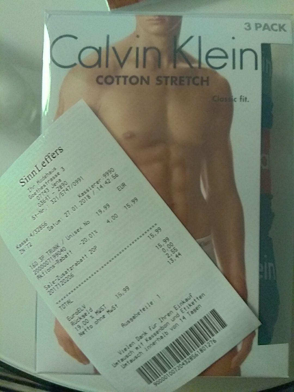 3er Pack Calvin Klein Trunks bei Sinn Leffers (Goethe Galerie Jena)