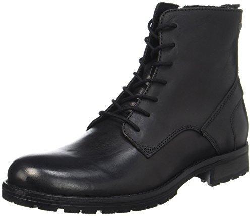 Jack&Jones Klassische Lederstiefel (schwarz)