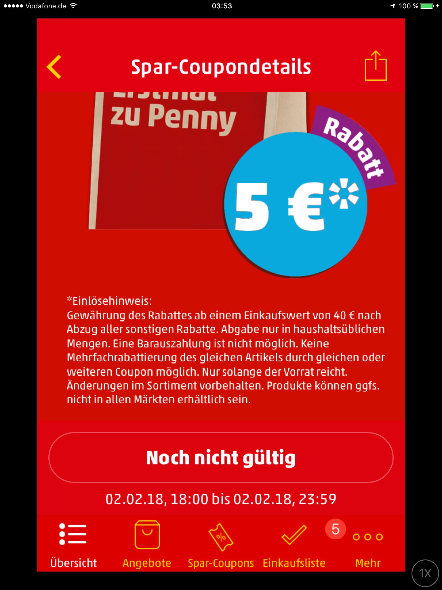 *Heute* Gutschein in der Penny App