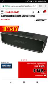 (Mediamarkt online und Amazon) BOSE Soundlink Mini Bluetooth speaker II