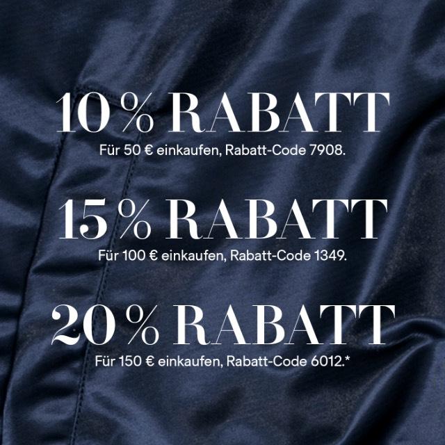 [H&M] bis zu 20% Rabatt + kostenloser Versand