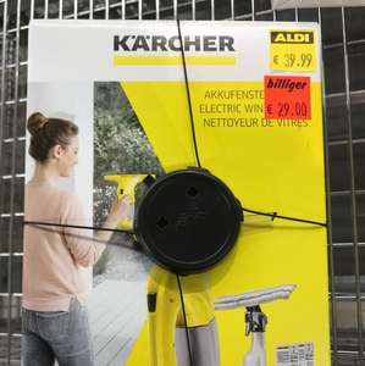 Kärcher Fenstersauger reduziert bei ALDI [LOKAL]