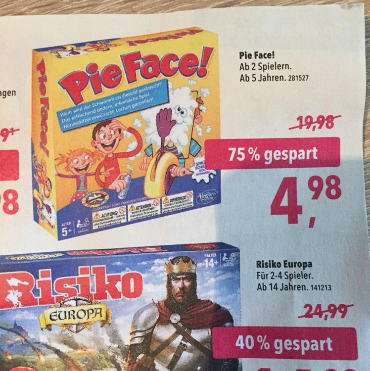 Lokal ab 29.01.2018 / Hasbro Pie Face 4,98€ ToysRus Sankt Augustin Neueröffnung ( 53757 )