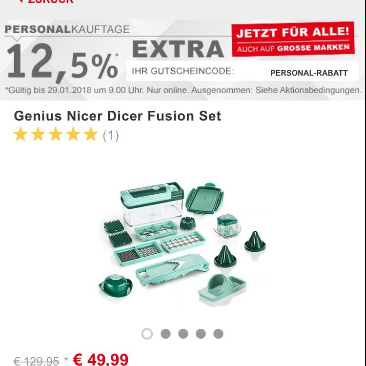 (XXXLutz) Gutschein 12,5% z.B. Genius Nicer Dicer Fusion Set 16tlg. für 47,69€ anstatt 54,82€