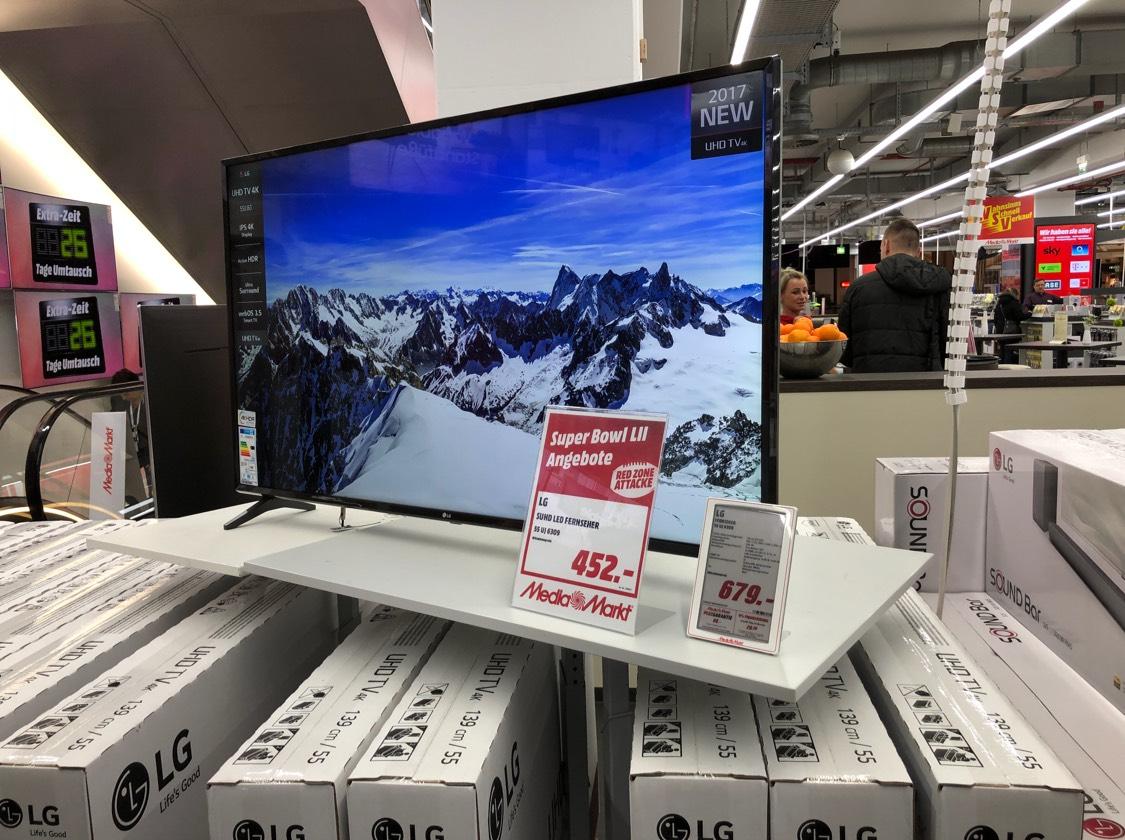 LG 55UJ6309 UHD/HDR LED Super Bowl Aktion!