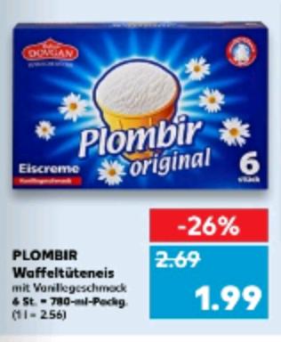 Plombir Eis für 1.99€ ab Donnerstag den 1.2.18 (Kaufland)