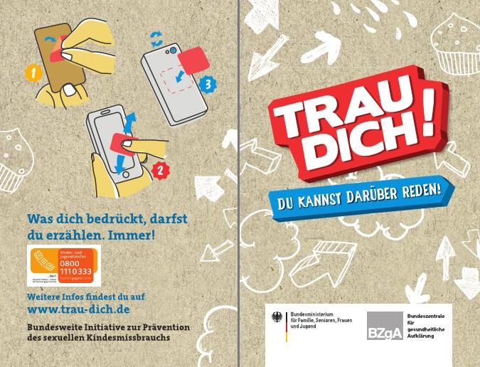 gratis TRAU DICH Smartphonewischer [BZgA]
