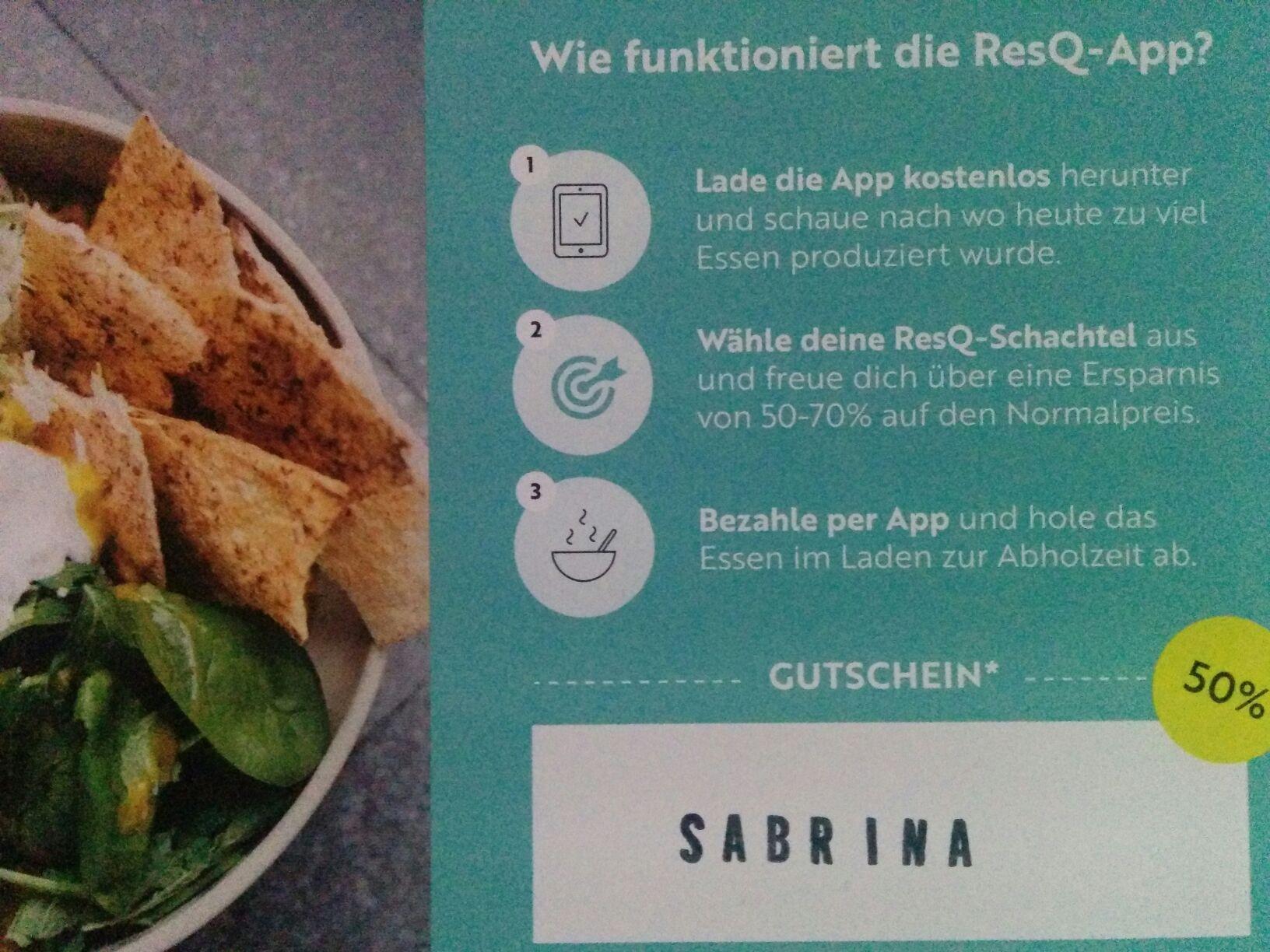 [Berlin] RESQ Gutschein einmal 50% auf eine Box (Neu- und Bestandskunden)