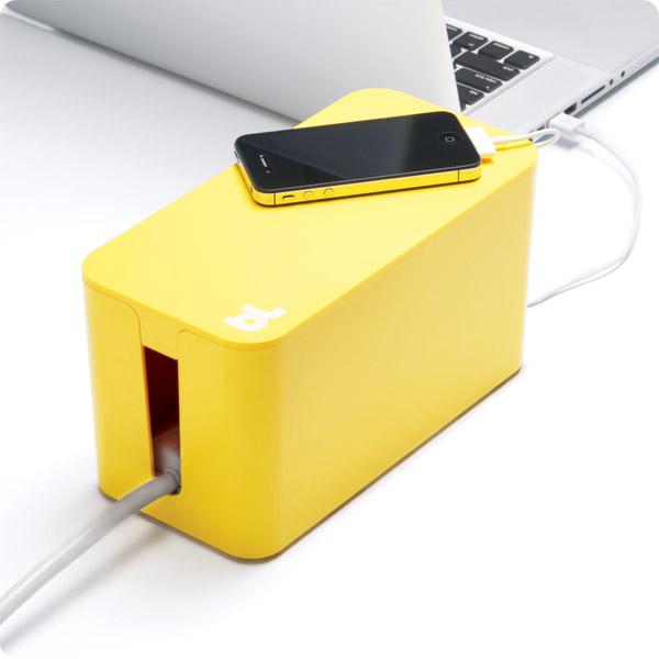 Bluelounge CableBox Mini gelb/pink für jeweils 1€ zzgl. 5,99€ VSK