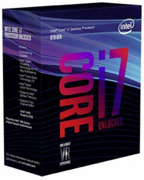 Intel Core i7-8700K Prozessor (Box WOF) - 12MB Cache, 3,70GHz Turbo 4,70GHz