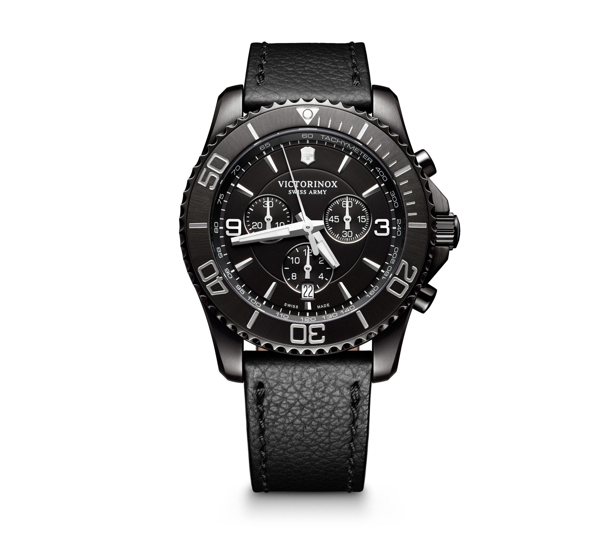 Victorinox Maverick Chronograph Black Edition Herrenuhr mit Saphirglas für 215,84 € (amazon.it)
