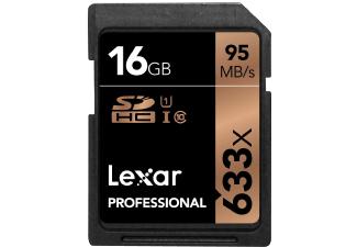 Lexar Professional 633X SDHC Karte 16GB