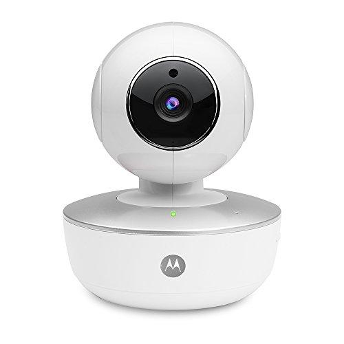 Motorola FOCUS 88 | 720p HD Home-Überwachsungskamera | WLAN Überwachung via Smartphone für zuhause | Zwei-Wege-Kommunikation, Schwenken, Neigen und Zoomen, Sound- Bewegungs und Temperaturalerts | Weiß