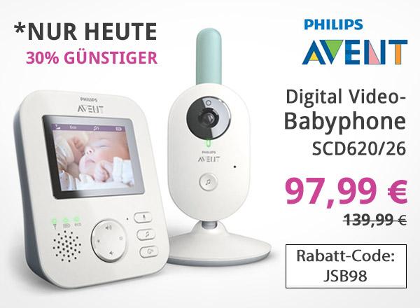 Philips Avent Video-Babyphone digital 2,7 Zoll - SCD620/26 Code JSB98 einlösen