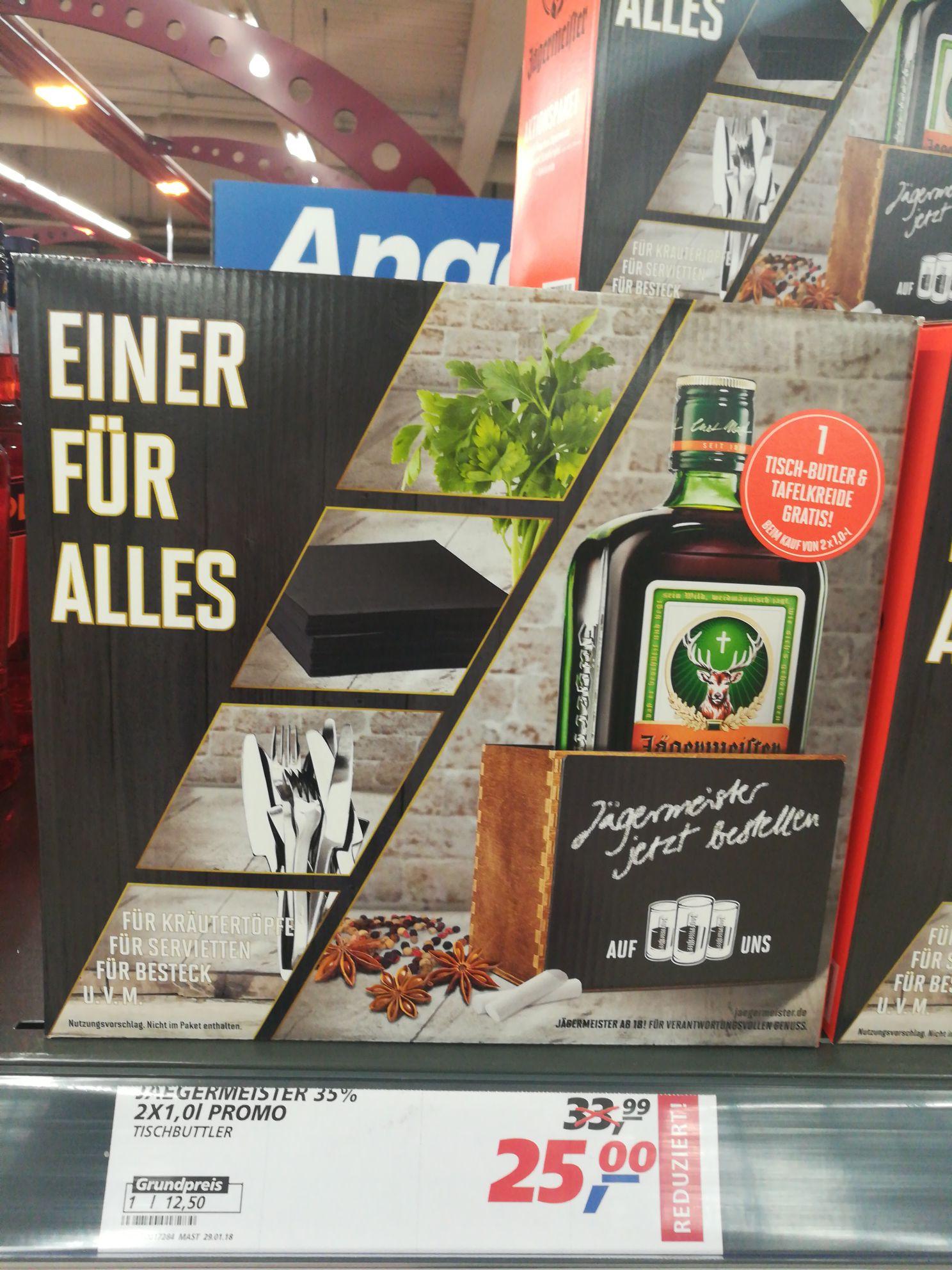 2 x 1 Liter Jägermeister (real-Markt Hamm)