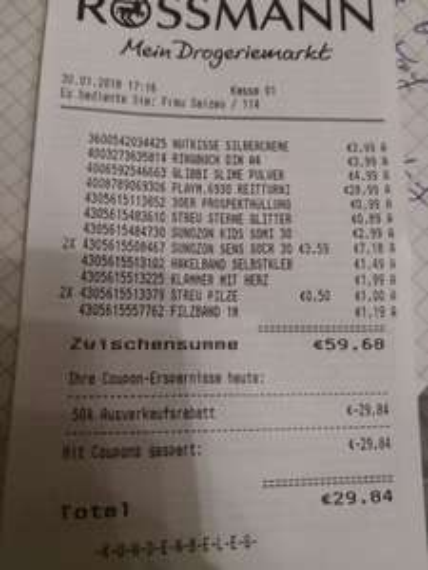 (Lokal) Rossmann 50% auf alles