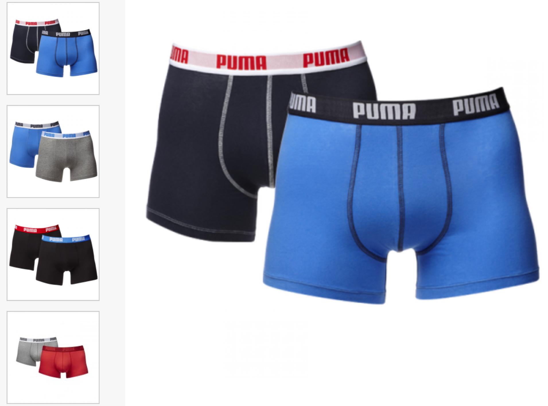 [mybodywear] 8 Puma Boxershorts diverse Ausführungen für 39,44€ (4,93€ p. Stück) oder Junior für 34,68€