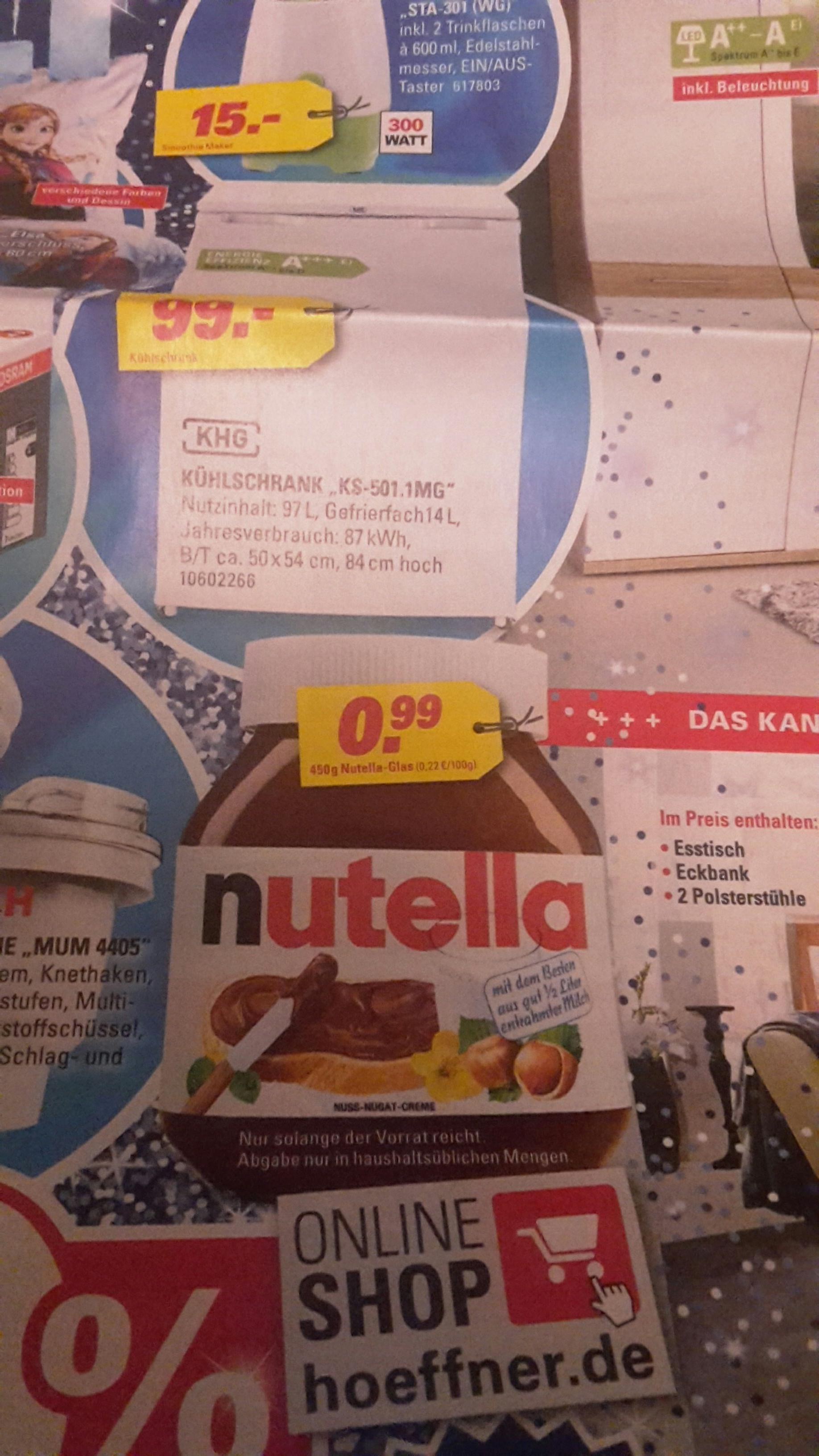 Lokal (Rösrath) ggf. bundesweit Nutella 450 Gramm