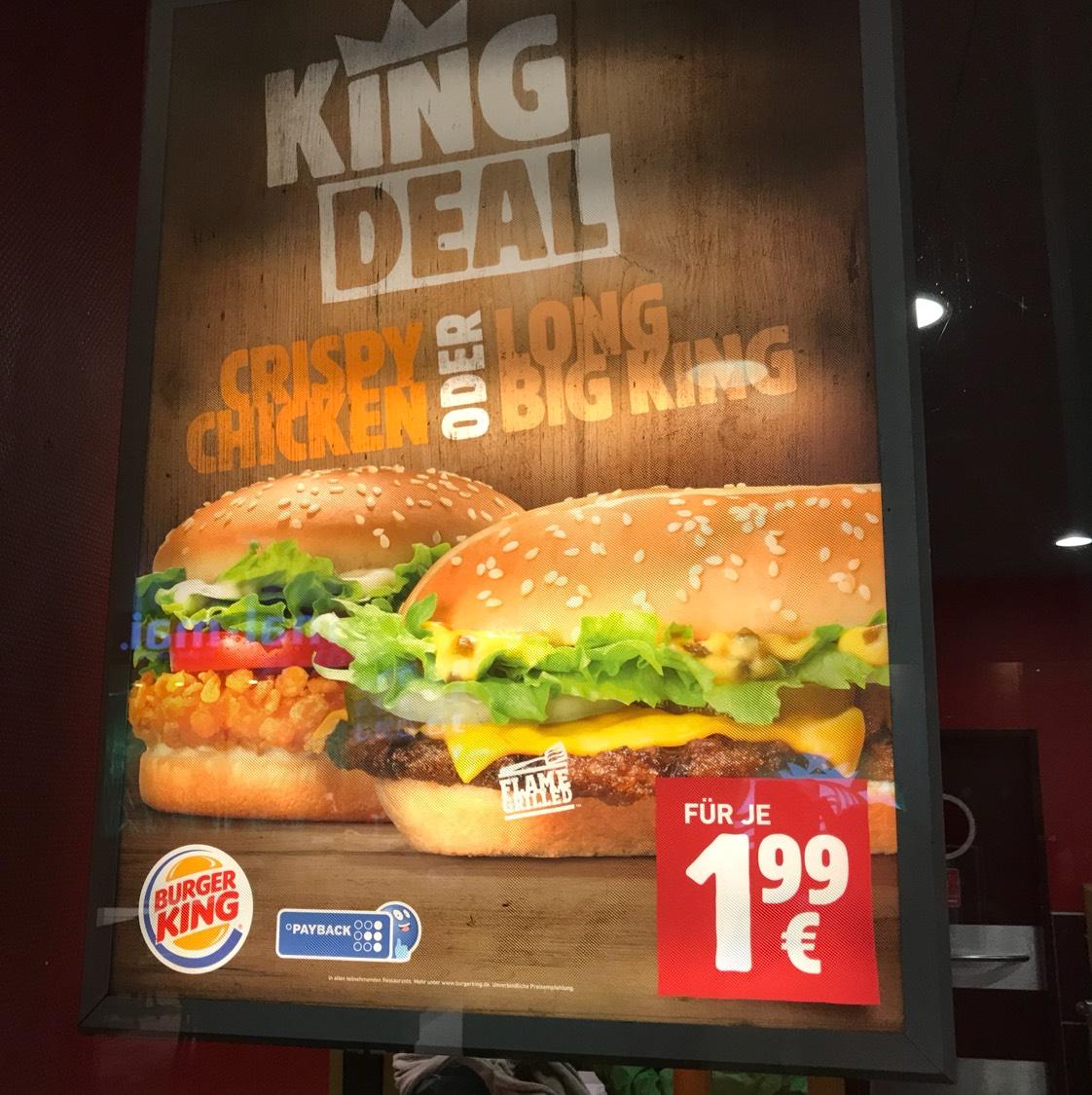Long Big King wieder für 1,99 Euro bei BK (kein Code notwendig)