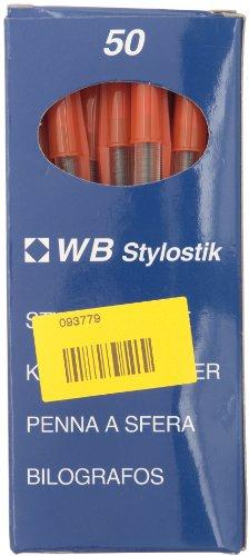 (Plus Produkt) UNO mittlere Spitze Kugelschreiber rot 1233 [50 Stück]