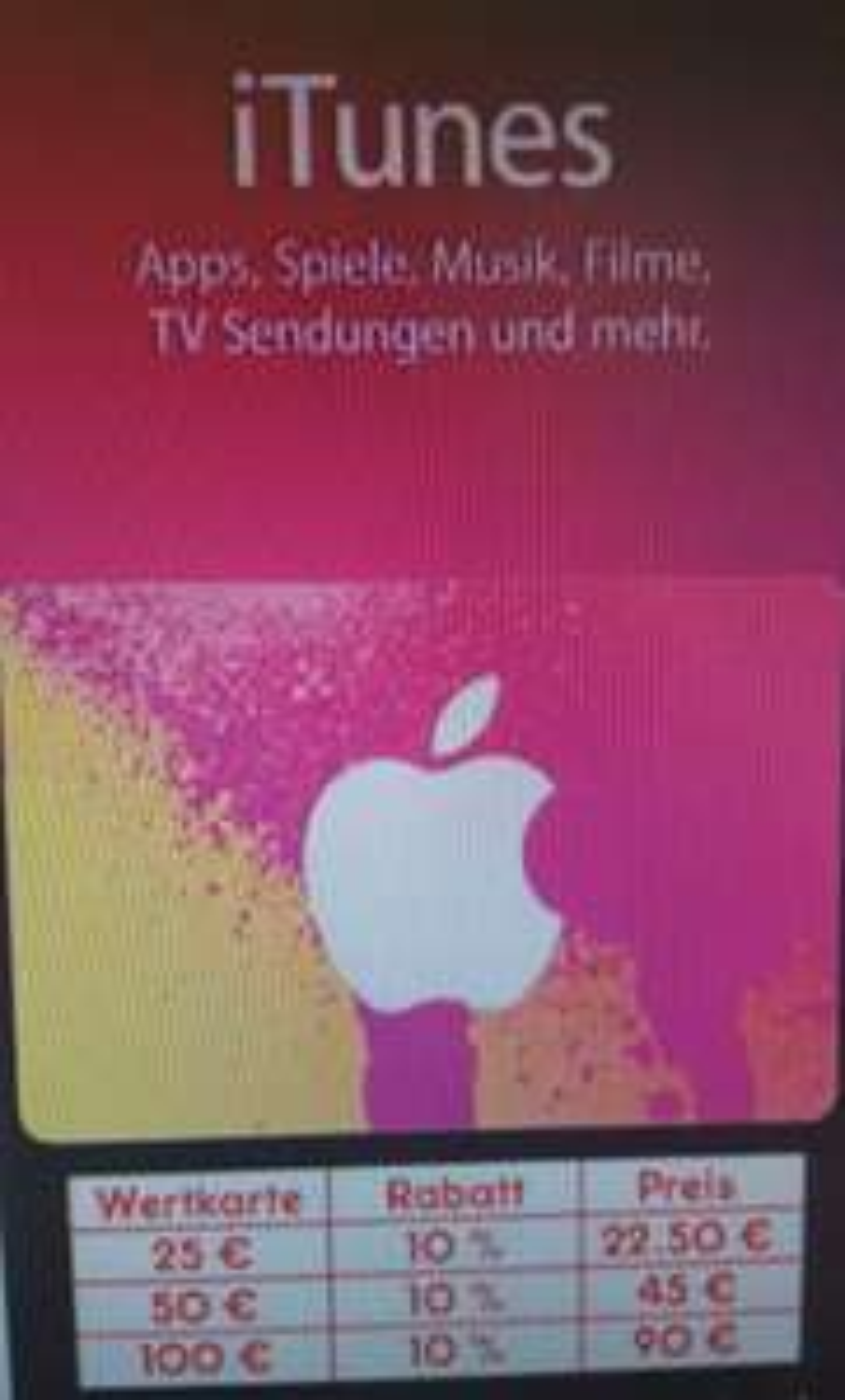 (Netto MD / Filialen) 10% Rabatt auf iTunes 25€/50€/100€ Geschenkkarten vom 05.02.-10.02.2018