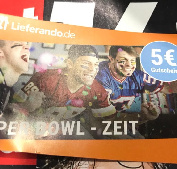Lieferando.de 5€ Gutscheine in Sport Bild