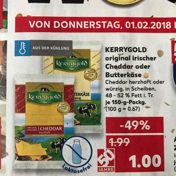 (Kaufland NRW) Kerrygold Cheddar oder Butterkäse 150g