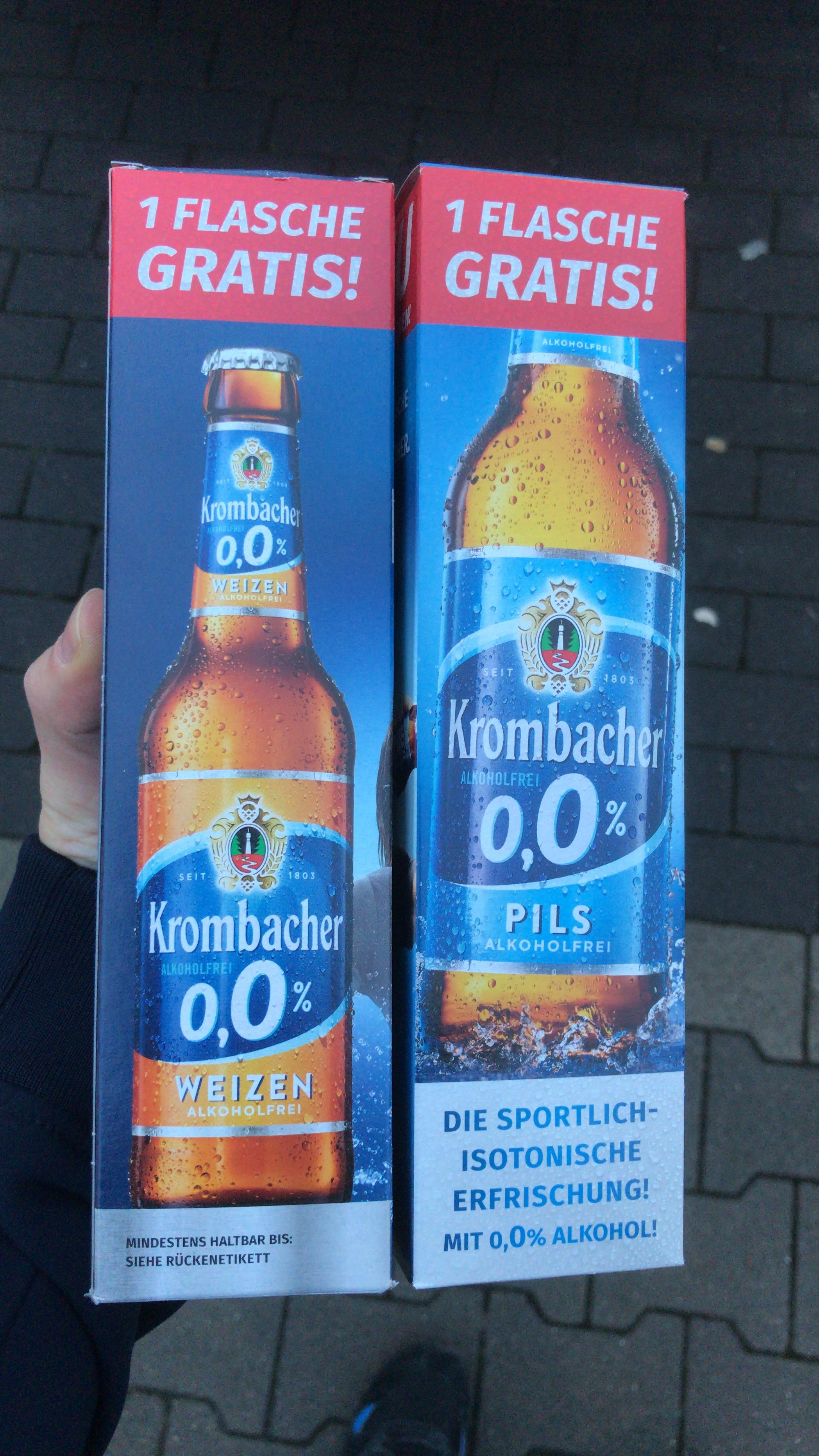 Lokal Berlin - Krombacher alkoholfrei Pils/Weizen für 0,01€ zzgl. Pfand