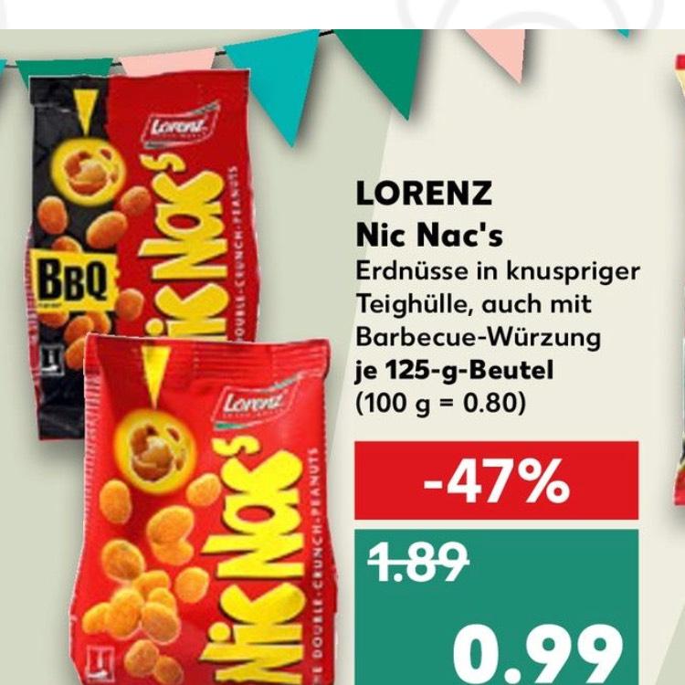 Lorenz Nic Nac's bei Kaufland für 0,99€ auch BBQ