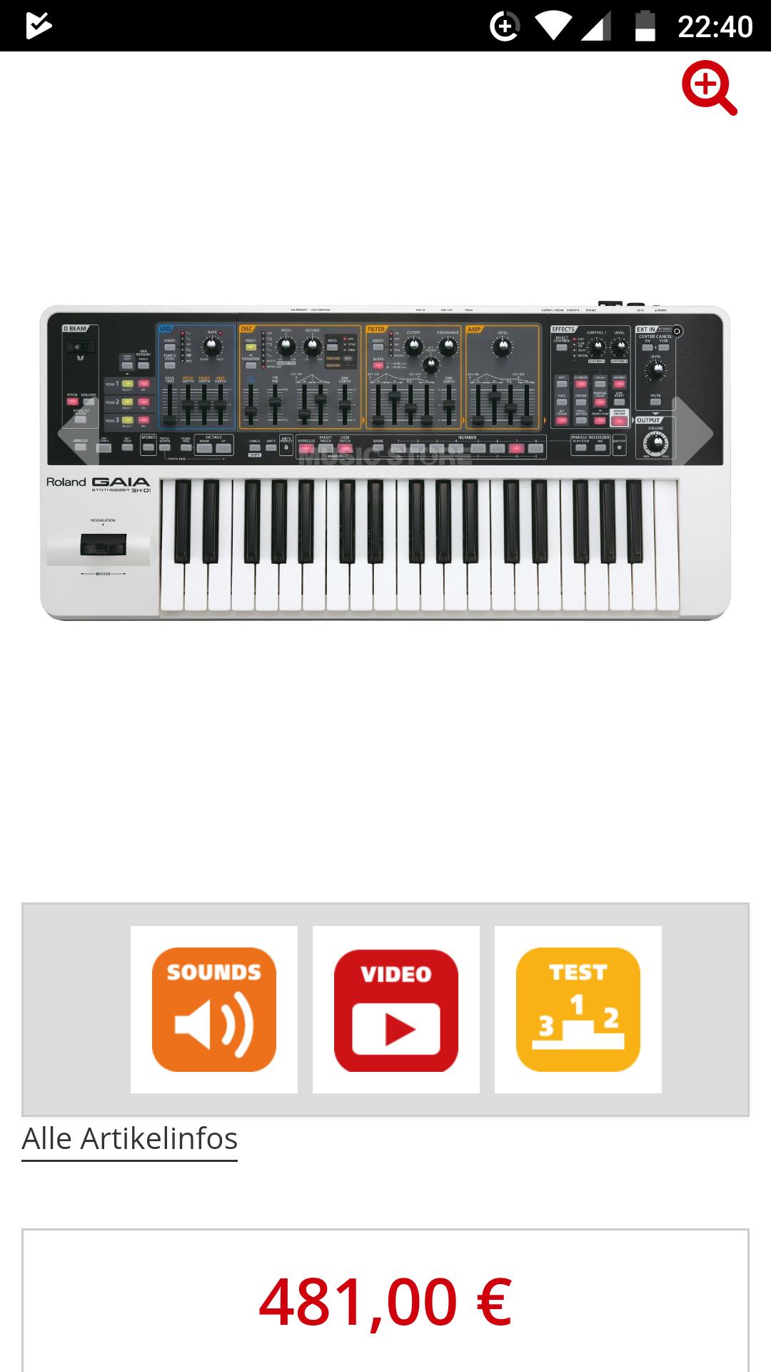 RolandGAIA SH-01 Synthesizer  @ MusicStore