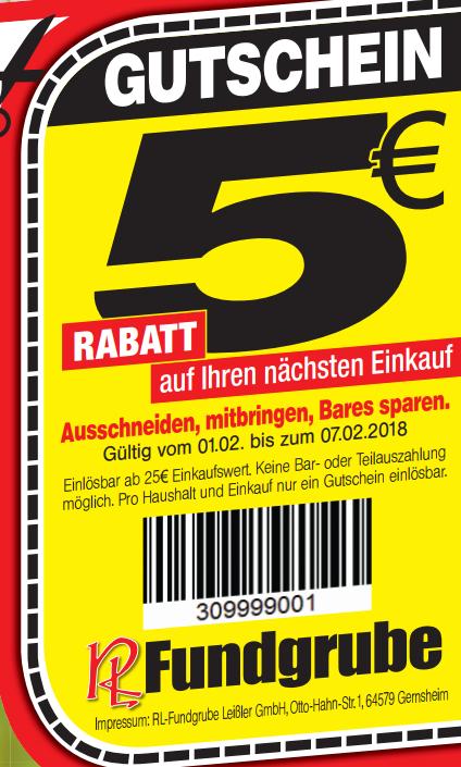 [RL Fundgrube] 5€ ab 25€ Coupon auf den Einkauf bis 07.02.18