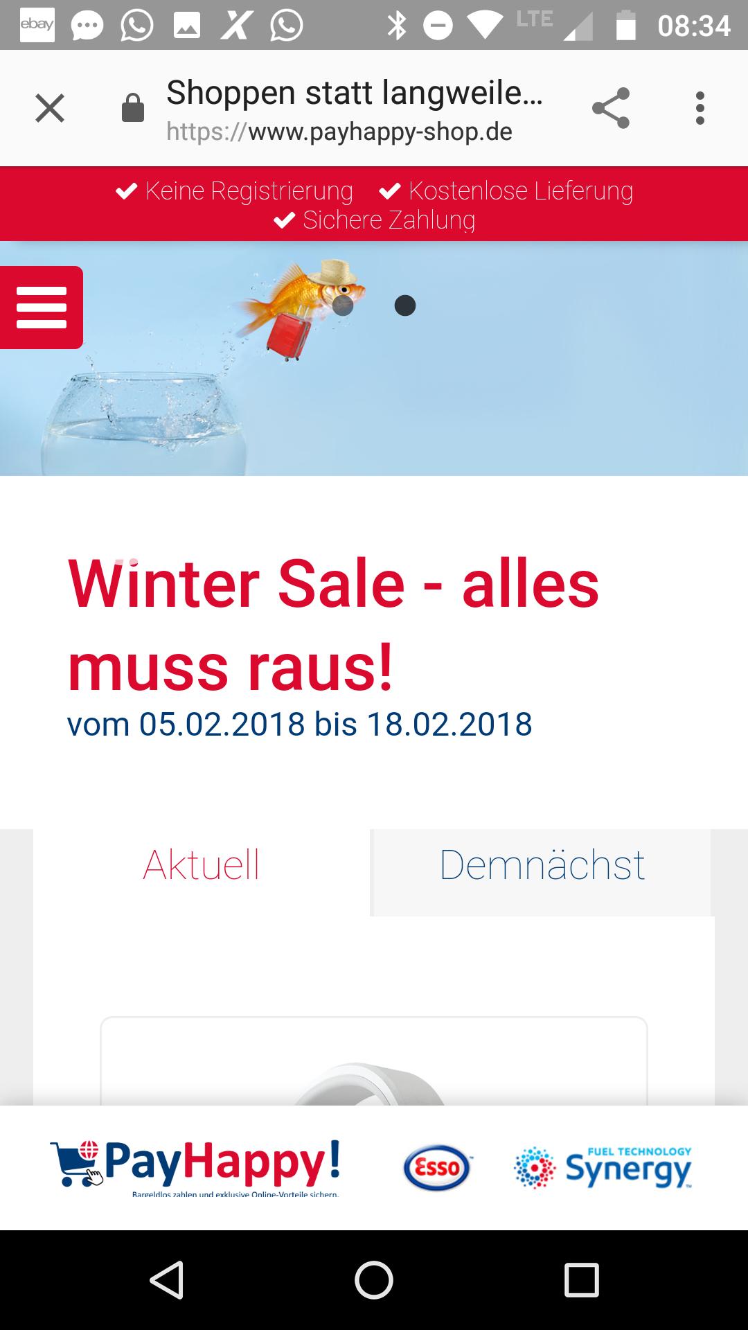ESSO payhappy Shop online hat Wintersale bis 18.2.18 diverse gute Angebote z.B ixo Bosch 5.Generation 38,-versandkostenfrei ,JBL Kopfhörer etc
