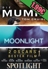 """[Google Play] Deal Donnerstag - diese Leihfilme für 1,99€ - """"Die Mumie"""", """"Moonlight"""", """"Spotlight"""""""
