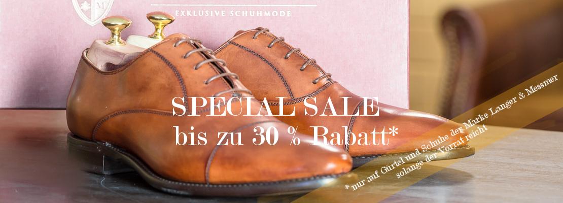 Langer & Messmer - Exklusive Herrenschuhe - Special Sale 30% Rabatt auf die Hauskollektionen