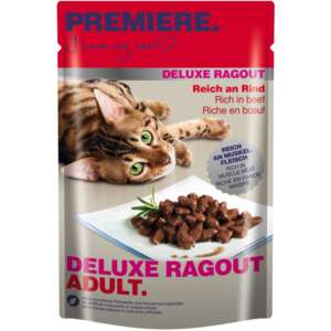 4x PREMIERE Deluxe Ragout Adult 22x85g [FRESSNAPF]